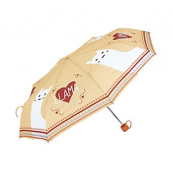 Children's umbrella Llama Junior Polyester Orange / White 52 Cm