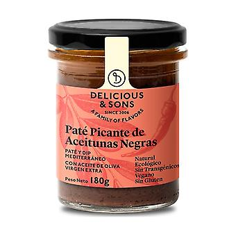 Organic Spicy Black Olives Pate 180 g
