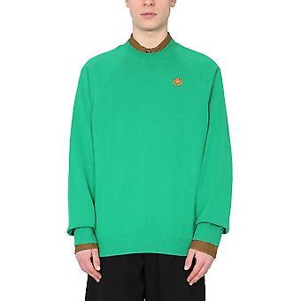 Kenzo Fb55pu5813tb56 Maglione in cotone verde da uomo