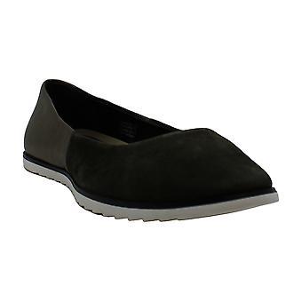 Aerosoles Women's Shoes Night Spell Suede Almond Toe Slide Flats