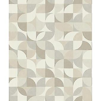 Rasch Grey Geo Wallpaper