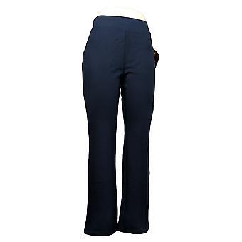 IMAN Global Chic Women's Pants 360 Slim Ponte Boot-Cut Blue 722-481