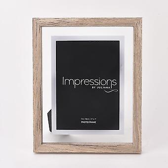 Impressions By Juliana Oak Finish Wooden Frame Perspex Border 5 X 7