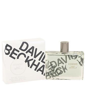 David Beckham Homme Eau De Toilette Spray por David Beckham 2,5 oz Eau De Toilette Spray