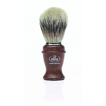 אומגה טהור גירית שיער גילוח מברשת #3692 (50/50 זיפים / גירית) (m)