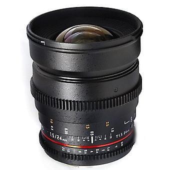 Samyang cine sycv24m-c 24mm t1.5 cine wide angle lens for canon