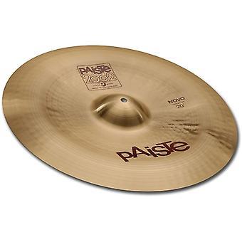 Paiste 2002 classique cymbale novo chine de type porcelaine 18 pouces