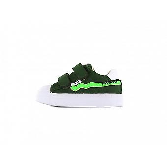 SHOESME Leather Velcro Trainer Style Shoe In Green