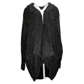 All Worthy Hunter McGrady Women's Sweater Jacquard Cardigan Black A388495