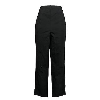 الدنيم وشركاه المرأة & apos&ق صغيرات السراويل الخصر تمتد الجانب جيب أسود A375348