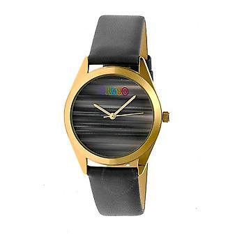 Crayo Graffiti Grey Dial Grey Leather Watch CRACR4003