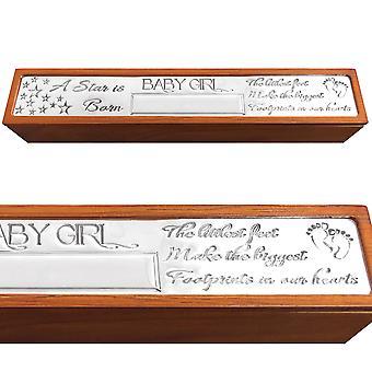 Baby Jente Fødselsattest Holder Box