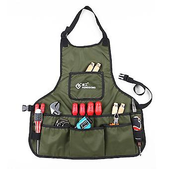 Waterproof canvas gardening tool apron tools bag with pockets adjustable size
