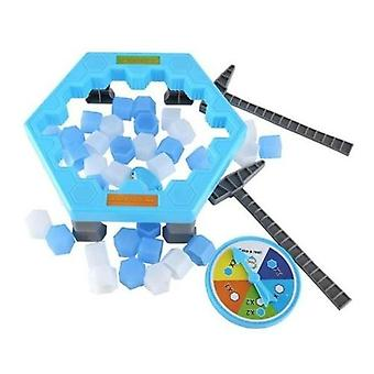 Save Penguin Ice Kids Puzzle Game Break Ice Block Hammer Party Toy