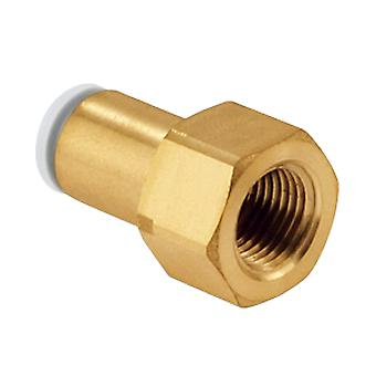 SMC Pneumatic Straight Threaded-To-Tube Adapter, Rc 3/8 Female, Push In 12 Mm