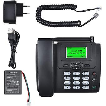 Wokex Simkarte GSM Tischtelefon - Hände frei,SMS,Großes Display mit Hintergrundbeleuchtung,
