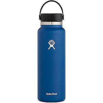 HanFei Cobalt-Flasche mit breiter Öffnung, 1,2 l, mit Flex-Kappe, 1 Stück
