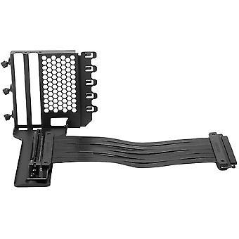 FengChun Universal Vertical GPU Halterung, Metall Grafikkartenhalter mit 220 mm Flacher Linie, Schwarz