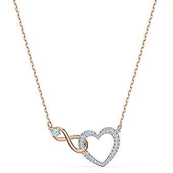 Swarovski Infinity Heart naszyjnik, biały, mieszanka walki