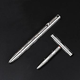 Martelo de emergência variável T em forma de caneta de aço inoxidável multifuncional