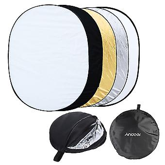 """35"""" * 47"""" / 90 * 120Cm oval 5 in 1 multi portable collapsible studio photo photography light reflector"""