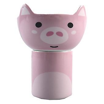 Kinder Schwein Porzellan Tasse und Schüssel Set