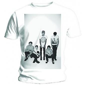 BMTH Group Shot Mens Vit T-shirt: Stor