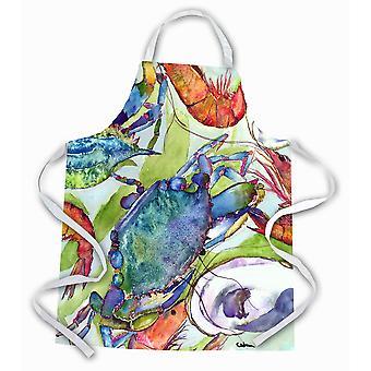 """Caroline'S Treasures 8547Apron Crabs Shrimp And Oysters Apron, Large, Multicolor"""