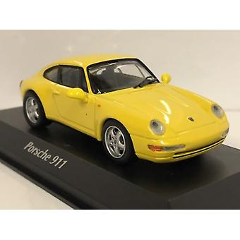 Maxichamps 940063000 1993 Porsche 911 993 Yellow 1:43 Scale