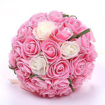 Braut Bouquet Mariage Seide künstliche Blumen Rosen