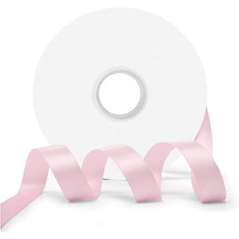 25m Blossom Pink 10mm Wide Satin Ribbon for Crafts