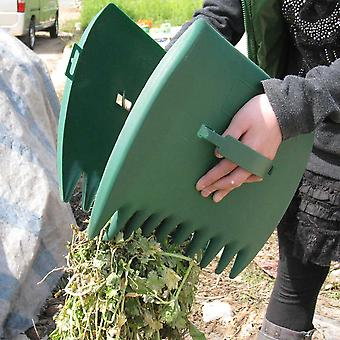 Hand Rake Yard Portable Cleaning Tool, Leaf Grabber Outdoor Garden