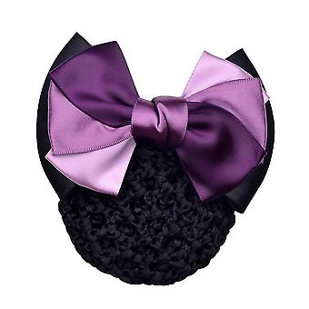 Bowknot Net Bun Snood Mesh Net Headwear Hair Clips