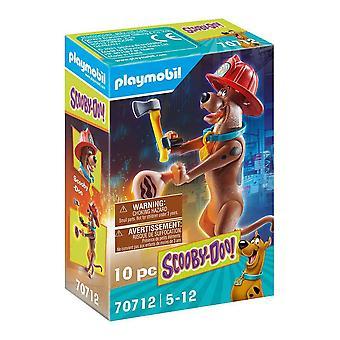 Actiefiguur Scooby Doo Brandweerman Playmobil 70712 (10 stuks)