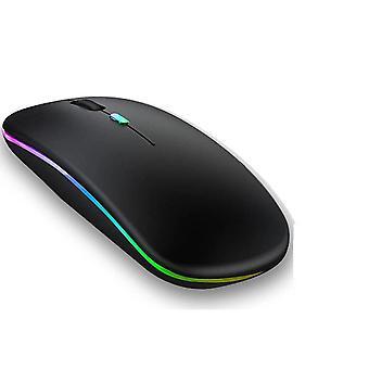RGB Bluetooth egér újratölthető vezeték nélküli egér laptop iPad Macbook számítógép Csendes Mause LED