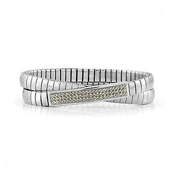 Nominering italien stretch dubbel armband gul glitter 043211_024