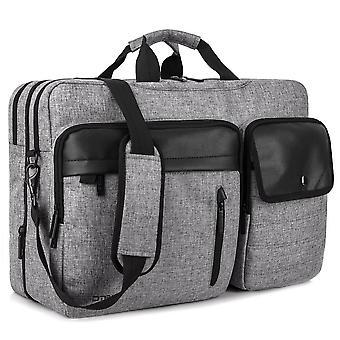 Versatile Universal 17.3 Inch Laptop Bag Shoulder Backpack For Men, Multi-pocket Roomy Stylish Work Business School Computer Carrying Briefcase,grey