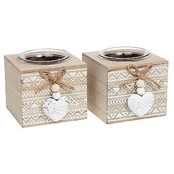 Provence Aztec Single Tealight Holder (One Supplied)