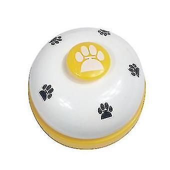 Luova lemmikkikellon kouluttaja, kissakoiran lelukello (valkoinen + keltainen)
