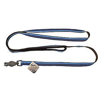 """K9 Explorer Sapphire Reflective Leash with Scissor Snap - 6' Long x 5/8"""" Wide"""