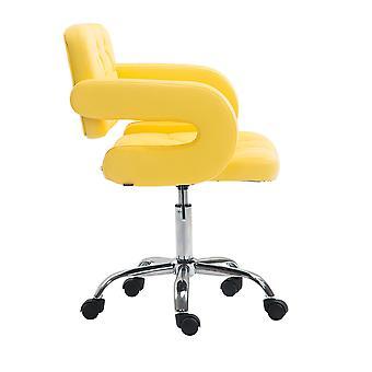 Toimistotuoli - Työpöytätuoli - Kotitoimisto - Moderni - Keltainen - Metalli - 62 cm x 55 cm x 78 cm