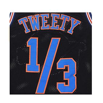 Mens Basketball Jersey 1/3 Tweety Space Jam Jersey 90s Maillots