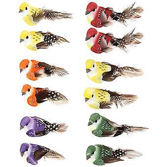 Bunte künstliche Vögel