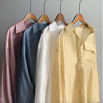 Chiffon Sonnencreme Shirt Jacke Frauen Sommer Wear Thin Perspective Shirt Wear Wild