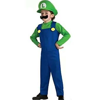Luigi Bros Habiller Kids Boy Cosplay Party Outfit