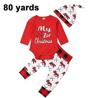 Christmas Boys Clothes Rompers Bodysuit Santa Claus Pants