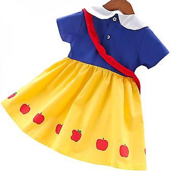 Albă ca Zăpada Copii Fete Printesa A-line Rochii Fancy Dress Costum