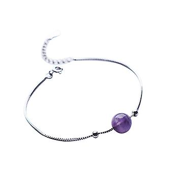 925 Sterling Zilveren Armband Vrouwen Paarse Ketting Armband Sieraden