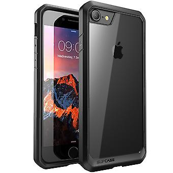 SUPCASE-iPhone 7 Plus fall, Unicorn Beetle serien, Hybrid tydliga fall-svart/svart