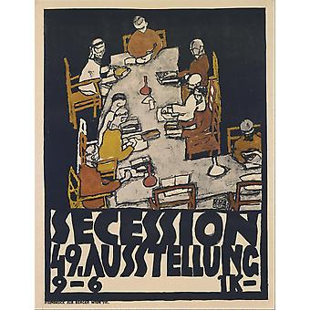 Egon Schiele - Secession 49 Exhibition Poster Print Giclee